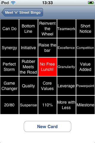 Screenshot Meet-n-Street Bingo